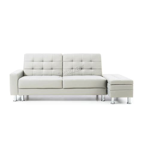divano ottomano westwood pu sofa bed with storage 3 seater guest sleeper