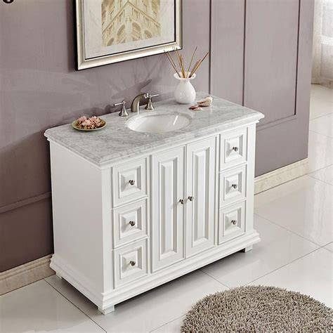 transitional single bathroom vanity white