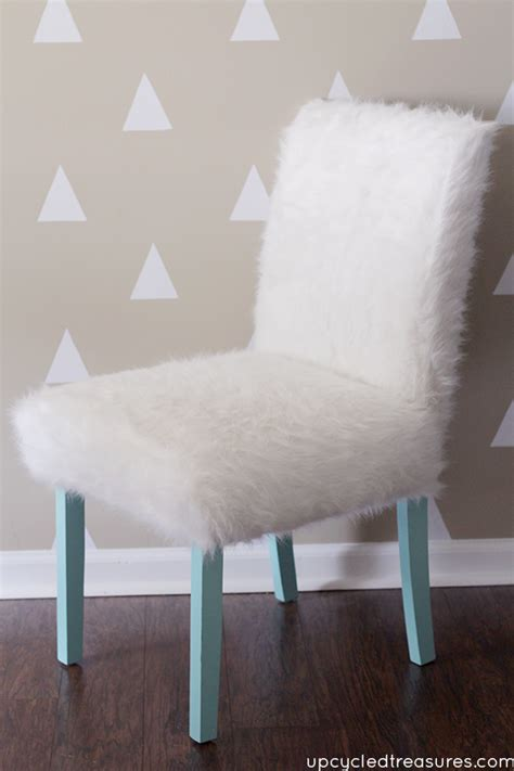fur desk chair whimsical faux fur office chair makeover