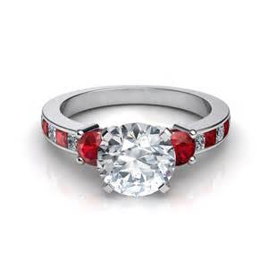 b engagement rings 3 with ruby engagement ring