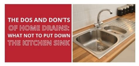 dos  donts  home drains    put