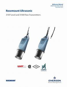 Rosemount Ultrasonic 3107 Level And 3108 Flow Transmitters