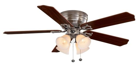 home depot 52 inch ceiling fans hton bay carriage house brushed nickel ceiling fan 52