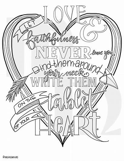Coloring Bible Pages Heart Write Verse Them