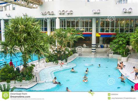swimming pool in the titus thermen in frankfurt am editorial stock image image 50262254