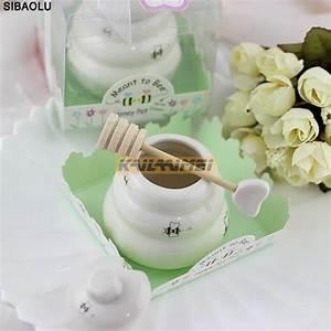 8 pcs ceramic meant to bee honey jar honey pot wedding With honey pot wedding favors