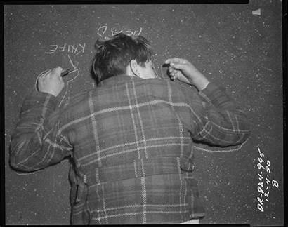 Lapd Crime Scene 1920s Photographs Angeles Los