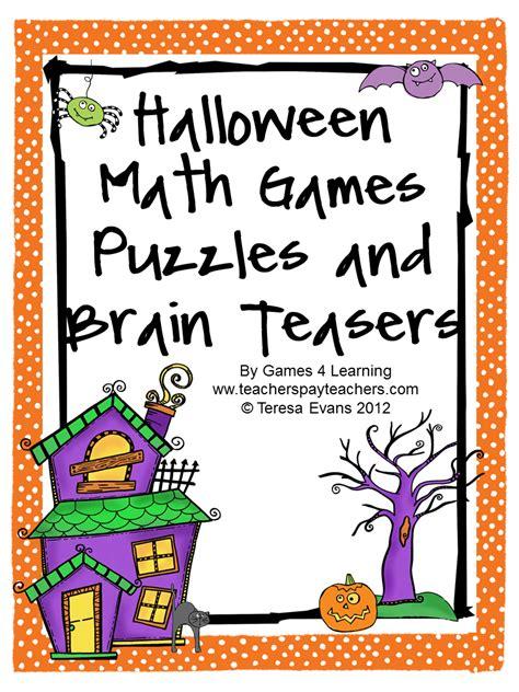 Hard Halloween Brain Teasers by Fun Games 4 Learning Halloween Math Fun