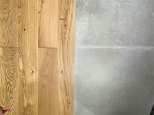 Auf Fliesen Fliesen : eiche parkett mit fliese in betonoptik farb und materialkollagen arquitectura interior ~ Yasmunasinghe.com Haus und Dekorationen