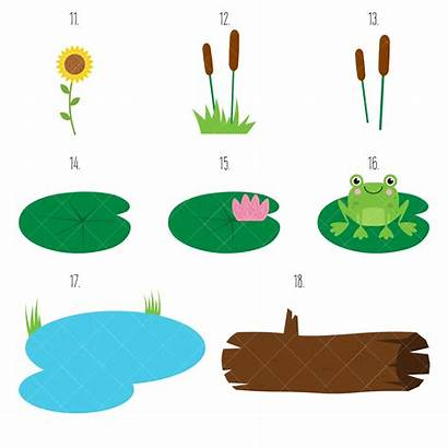 Pond Clipart Duck Animals Clip Getdrawings Mother
