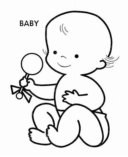Coloring Pages Doll Boy Printable Newborn Babies