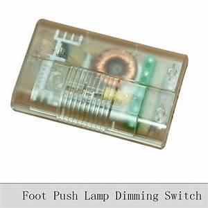 Foot push lamp dimming switch floor lamp table lamp dimmer for Floor lamp with foot dimmer