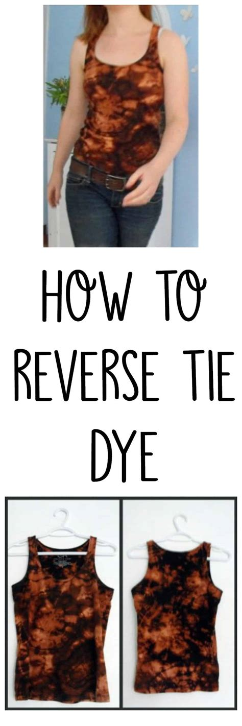 How To Reverse Tie Dye Tie Dye Your Clothes With Bleach