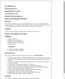cna entry level resume nursing aide resume skills