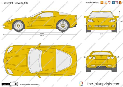 chevrolet corvette  vector drawing