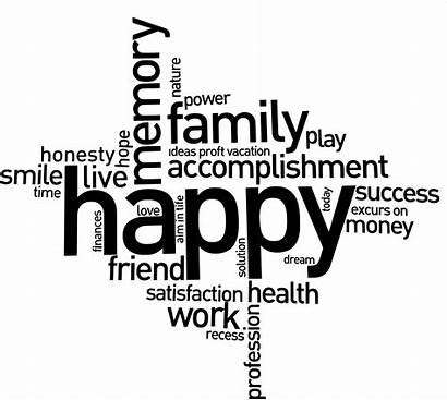 Happy Clipart Word Outline Cluster Transparent Quote