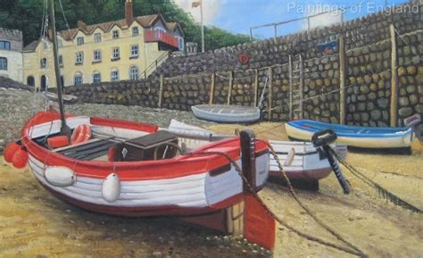 Ebay Boats For Sale Devon by Clovelly Devon Oil Painting Fishing Boats Landscape