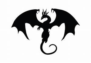 Dragon Silhouette Vector Free Download Dragon Vector