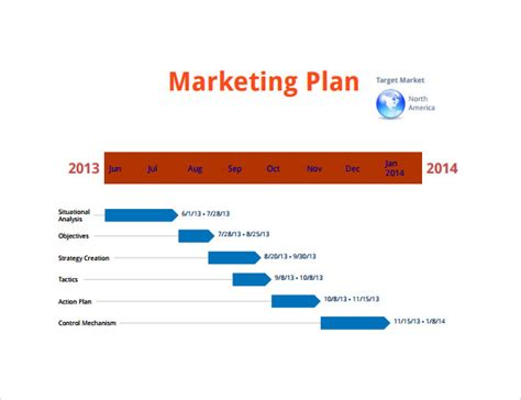 sample marketing timeline templates   ms