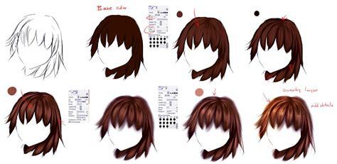 easy anime hair tutorial  ryky  deviantart
