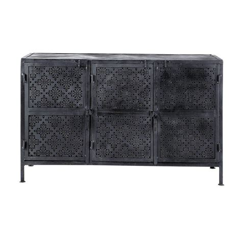 Metal Sideboards by Metal Sideboard In Black W 130cm Menara Maisons Du Monde