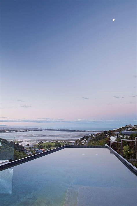 stunning ocean views   open interior define  redcliffs house