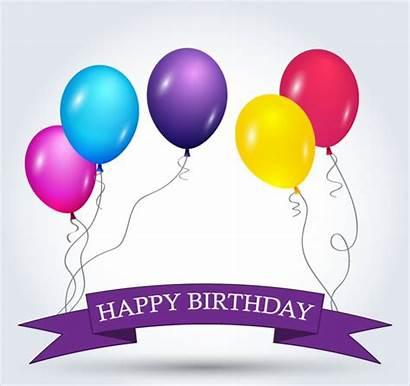 Birthday Banner Happy Designs Banners Balloons Vector
