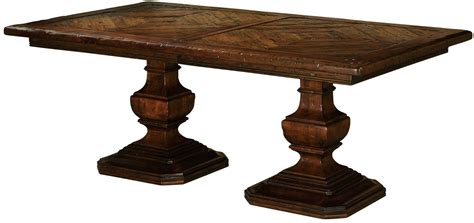 rue de bac cognac extendable pedestal dining table