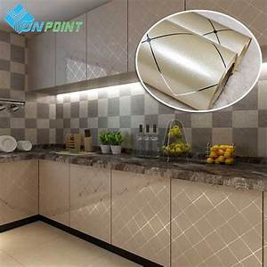 Aliexpresscom buy 60cmx5m modern gold paint grid diy for Best brand of paint for kitchen cabinets with gold letter stickers