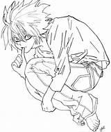 Death Note Coloring Pages Printable Getcolorings Print Member Pleasing Minitokyo Getdrawings Lawliet sketch template