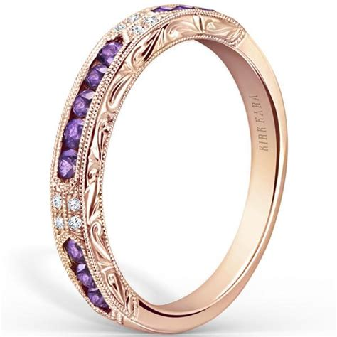 kirk kara charlotte purple amethyst diamond wedding band
