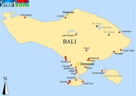 map  bali   surrounding islands printable