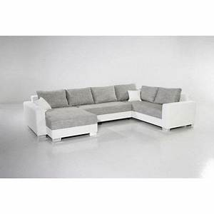 canape d39angle convertible mirama xxl blanc gris achat With canape angle blanc gris