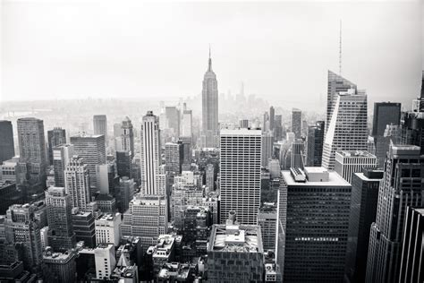 painel fotografico cidade preto  branco stickdecor