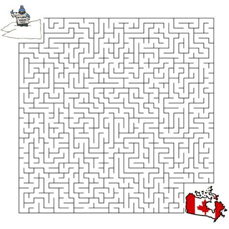 Canada Maze Worksheet