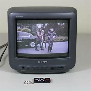 Sony Trinitron Retro Vintage 9 U0026quot  Crt Color Tv Kv