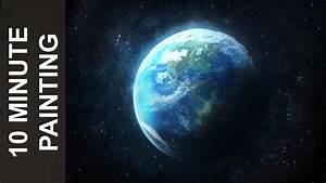 Painting the Planet Earth with Acrylics in 10 Minutes ...