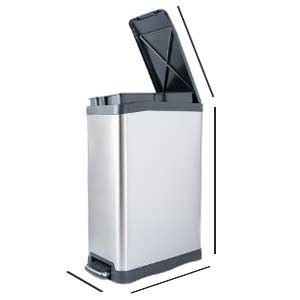 Kitchen Trash Can 9 Inches Wide by Best 13 Gallon Trash Cans 50 Liter Recycle Bins