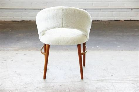 accent chair for vanity vanity or accent chair in genuine lambskin by frode holm