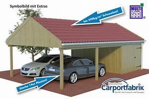 Doppelcarport Mit Satteldach : multi satteldach doppelcarport mit starken 290kg m dachlast und abstellraum ~ Frokenaadalensverden.com Haus und Dekorationen