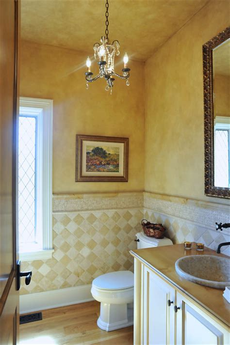 French Country Style Powder Room   Mediterranean   Powder