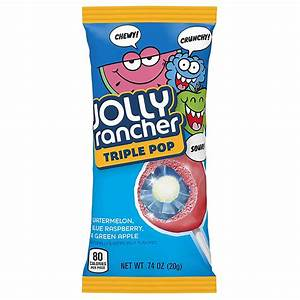 Jolly Rancher Triple Pop Lollipop 0.74oz (20g) - American Fizz