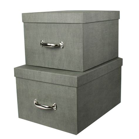 boite de rangement photos grande bo 238 te de rangement en gris solide et 233 l 233 gante