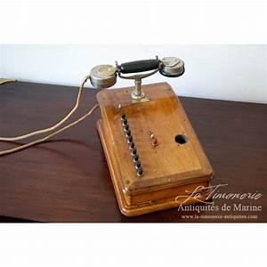 Telephone Mural Vintage : antique wooden phone from grammont paris ~ Teatrodelosmanantiales.com Idées de Décoration