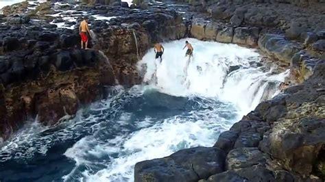Pool Of Death Queens Bath Kauai Hawaii Youtube