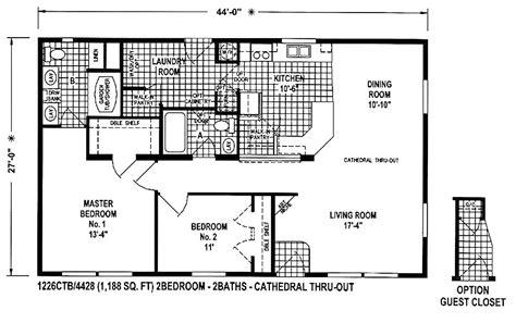 24 X 48 Double Wide Homes Floor Plans  Modern Modular Home