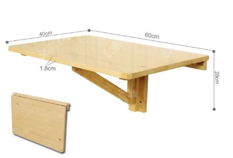 table rabattable murale cuisine sobuy fwt03 n table murale rabattable en bois table