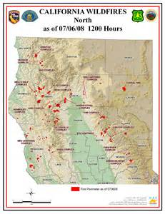 Northern California Fires Map Current