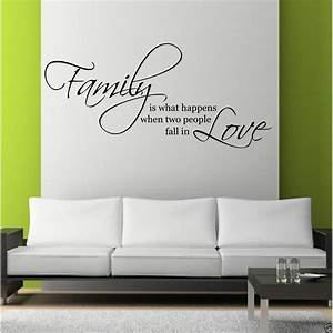 Family Love Wall Art Sticker Quote Living Room Decal Mural ...