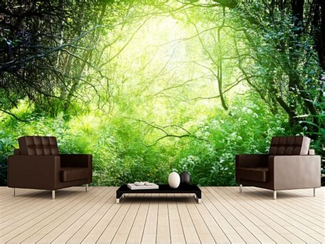 buy custom natural wallpaper deep forest